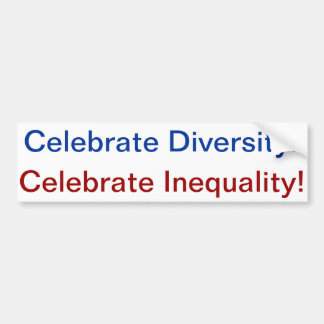 diversity=inequality adesivo para carro
