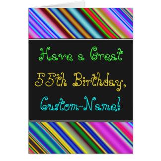 Divertimento, 55th cartão de aniversário colorido,
