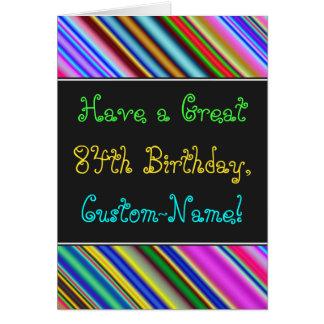 Divertimento, 84th cartão de aniversário colorido,