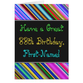Divertimento, 88th cartão de aniversário colorido,
