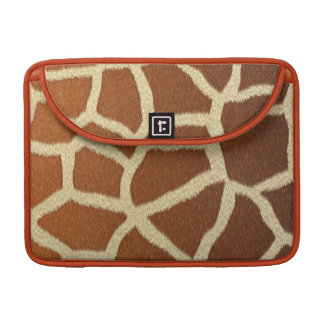 divertimento animal da pele da pele do girafa bolsa para MacBook
