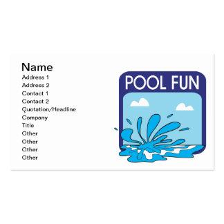 Divertimento da piscina cartão de visita