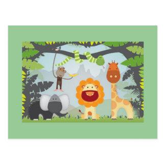 Divertimento da selva cartão postal
