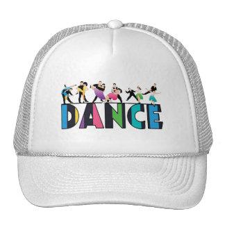 Divertimento & dança listrada colorida dos boné