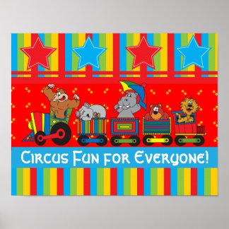 Divertimento do circo para todos poster pôster