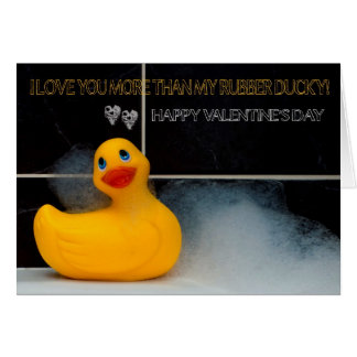 Divertimento do dia dos namorados com o Ducky de b Cartão Comemorativo