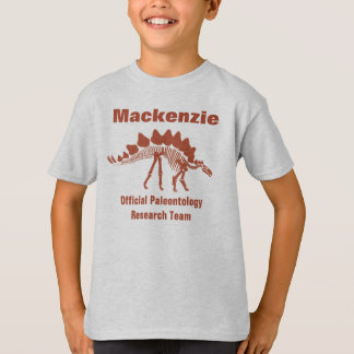 Divertimento do dinossauro da paleontologia camiseta