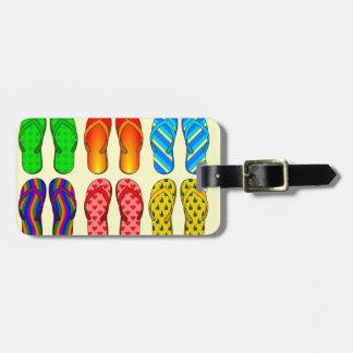 Divertimento do flip-flop etiqueta para bagagem