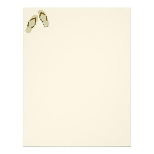 Divertimento do flip-flop papel de carta