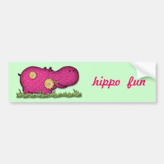 divertimento do hipopótamo adesivo para carro