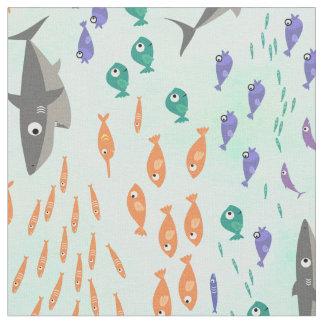 Divertimento do tubarão tecido