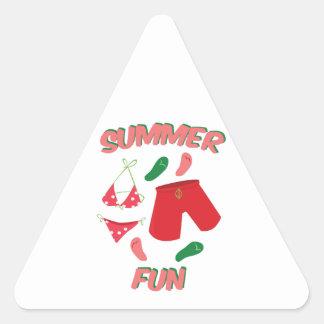 Divertimento do verão adesivos em forma de triângulo