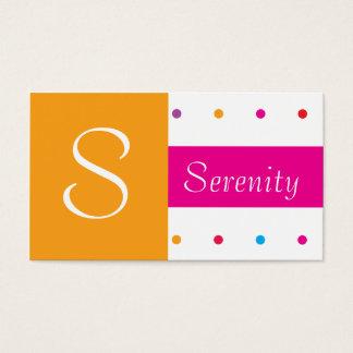 Divertimento elegante das bolinhas cor-de-rosa e cartão de visitas