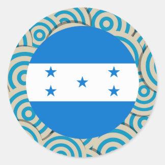 Divertimento enchido, bandeira redonda de Honduras Adesivo