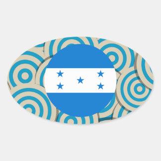 Divertimento enchido, bandeira redonda de Honduras Adesivo Oval