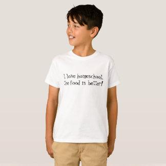 Divertimento eu amo o homeschool que a comida é camiseta