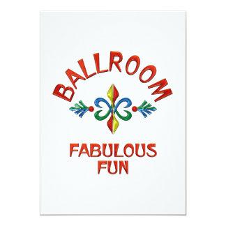 Divertimento fabuloso do salão de baile convite personalizado