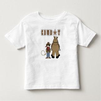 Divertimento ocidental do estilo! Camisa do cavalo Camisetas