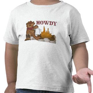 Divertimento ocidental! O ursinho do vaqueiro T-shirt