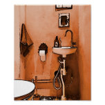 "Divertimento para canalizador ""vintage Le Toalete  Impressão"