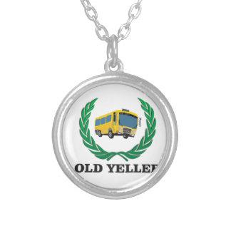 divertimento velho do ônibus do yeller colar banhado a prata