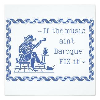 Divisa barroco da música convites