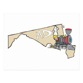 Divisa da arte dos desenhos animados do mapa & da cartão postal