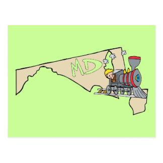 Divisa da arte dos desenhos animados do mapa & da  cartões postais
