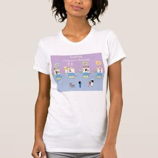 Divisão de hospital de crianças customizável camisetas
