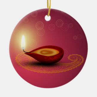 Diwali feliz brilhante Diya - ornamento