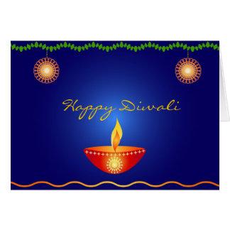 Diwali feliz - cartão