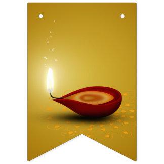 Diwali feliz Diya - bandeiras da estamenha