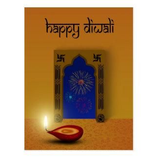 Diwali feliz festivo - cartão