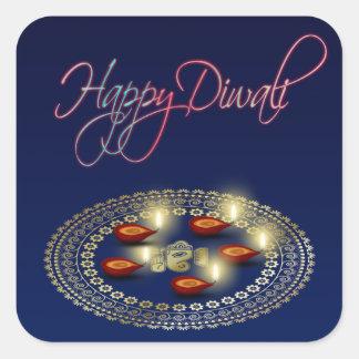 Diwali feliz Ganesha Rangoli - etiqueta