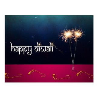 Diwali feliz Sparkling - cartão