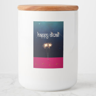 Diwali feliz Sparkling - etiqueta do recipiente de
