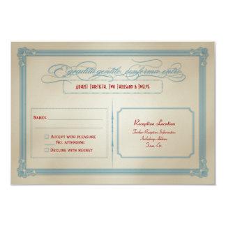 DIY branco & azul vermelho italiano que Wedding Convite 8.89 X 12.7cm