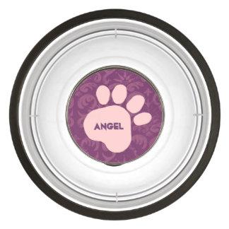 DIY criam seu próprio teste padrão cor-de-rosa Tigela Para Cachorros