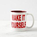 DIY fazem-lhe você mesmo a caneca de café