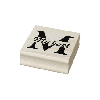 DIY - Simplesmente monograma/nome Carimbo De Borracha