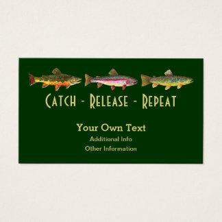 Dizer da pesca da truta - repetição da liberação cartão de visitas