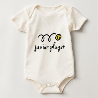 Dizer do equipamento do bebê do tênis: jogador body para bebê