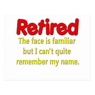 Dizer engraçado da aposentadoria cartão postal
