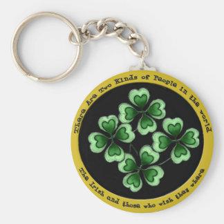 Dizer irlandês chaveiro