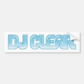 DJ-Clear-Logo-6' W-Ciano Adesivo Para Carro