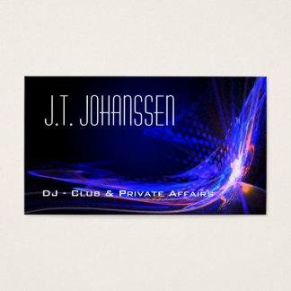 DJ - Colora cartões de visitas padrão pretos da