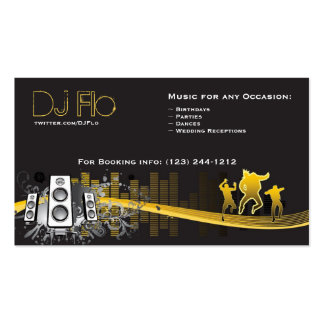 DJ - coordenador da música dos disco-jóquei Cartao De Visita