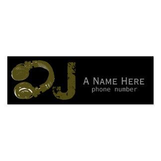 DJ/dee jay/música eletrônica Cartão De Visita Skinny