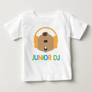 DJ júnior - Bebê Brown - Tshirt da criança Camiseta Para Bebê