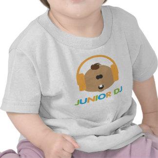 DJ júnior - Bebê Brown - Tshirt da criança